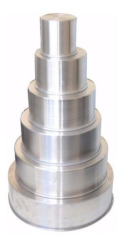 formas redondas 6 pçs + bailarina 40cm + 22 peças aço inox