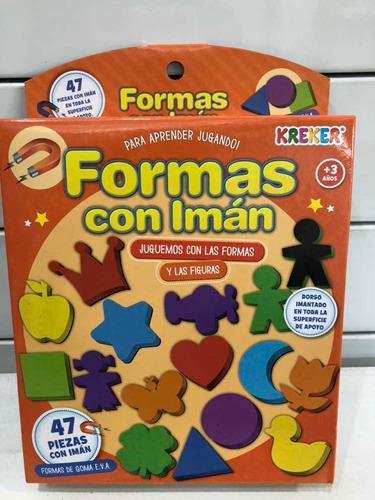 formas y figuras de goma eva con iman kreker july toys