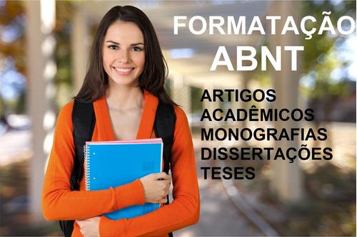 formatação abnt em artigos acadêmicos, tccs e monografias