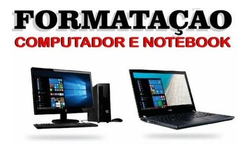 formatação computador notebook