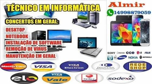 formatação de computador celular notbook e tablets