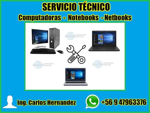 formateo de computadoras, notebooks y netbooks a domicilio