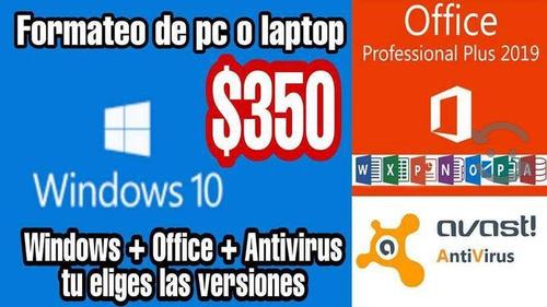 formateo de computadoras pc-macos - venta de programas