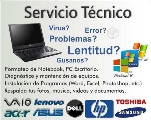 formateo e instalación de windows notebook pc zona palermo