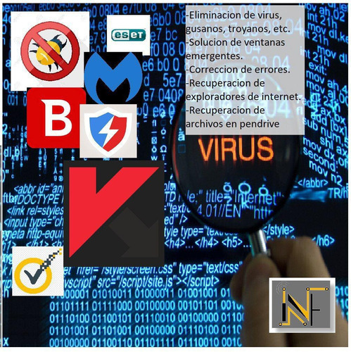 formateo paquete windows office mantenimiento virus limpieza
