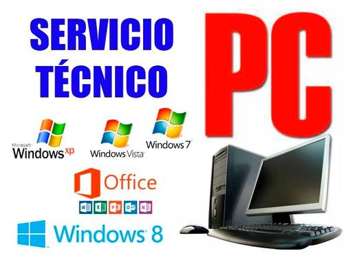 formateo servicio técnico computadoras pc laptop a domicilio