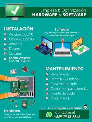 formateo y limpieza  - pc · notebook · all in one