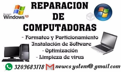 formateo y reparacion de computadores