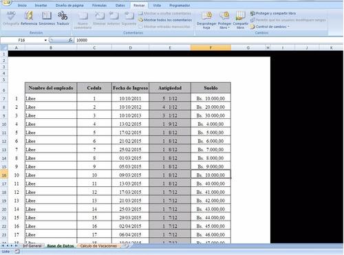 formato calculo de vacaciones lottt