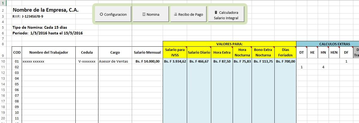 Nico plantilla de recibo de pago gratis colecci n de for Plantillas de nomina en excel gratis