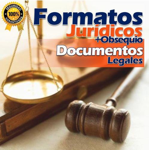 formatos jurídicos documentos legales completos actualizados
