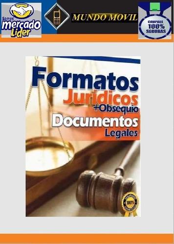 formatos jurídicos legales actualizados y completos.