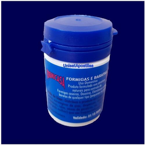 formicasa kit  2frascos formigas e baratas - produto natural