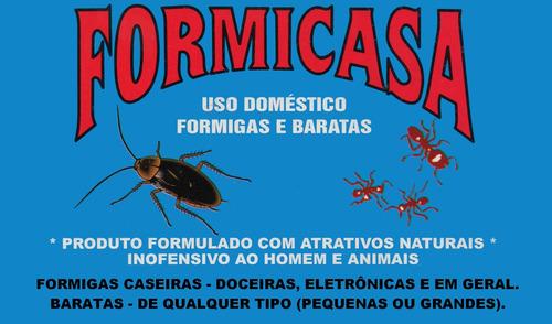 formicasa - uso doméstico formigas e baratas - 2 unid