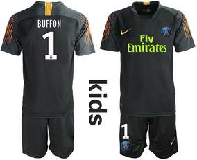 94068b42c Formidable Jersey Psg Paris Portero Niño Negro 2019 Buffon 1