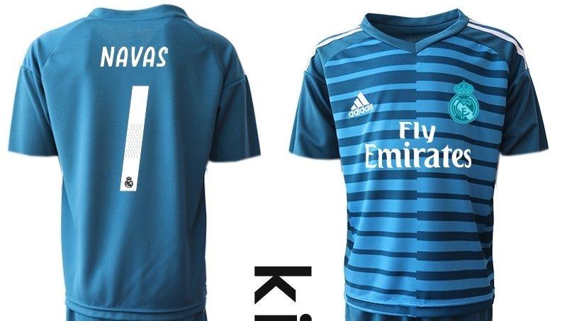 c5026df823dc2 formidable jersey real madrid portero niño azul 2019 navas 1. Cargando zoom.