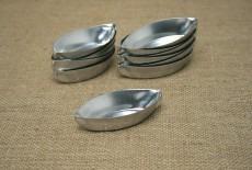 forminha barquinha em alumínio kit com 24 forminhas