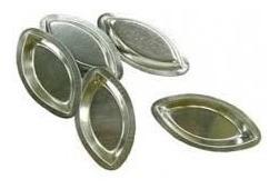 forminha barquinha em alumínio kit com 60 forminhas