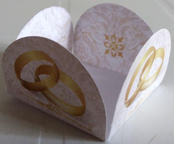 Forminha Porta Doce Aliança Casamento 50 Forminhas R 699 Em