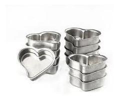 forminha pão de mel pequeno coração em alumínio (dúzia)