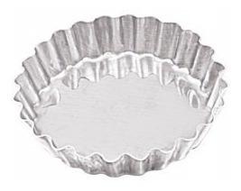 forminha tortinha crespa fundo fixo 5cm  kit 12 peças