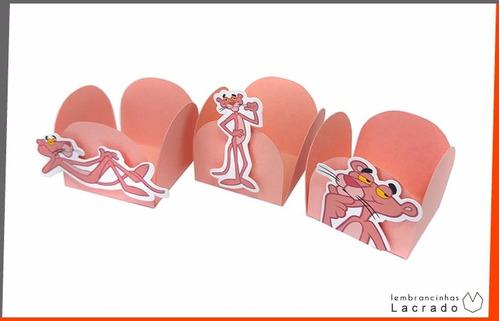 forminhas pantera cor de rosa - kit com 20 unidades