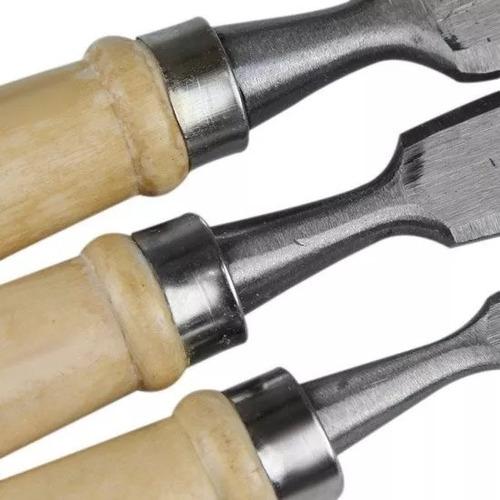 formão cabo madeira jogo com 4 peças excellent 2gc