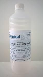 formol 37% estabilizado frasco 1 litro