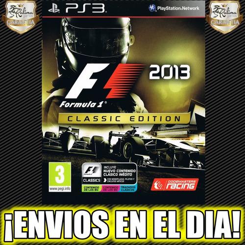 formula 1 2013 clasiic edition f1 ps3 juego playstation 3