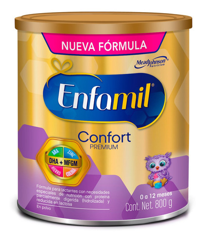 fórmula infantil enfamil confort 0 a 12 meses, lata de 800g