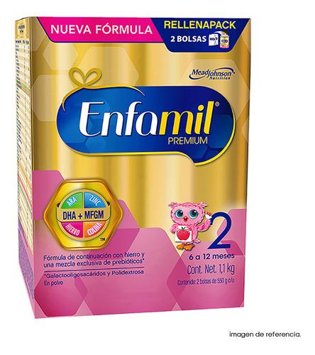 fórmula infantil enfamil etapa 2, 6-12 meses, caja de 1.1 kg