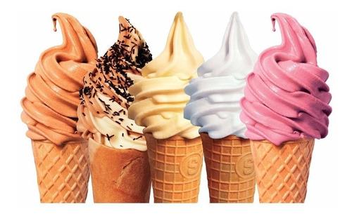 fórmula máquina helado soft, yogurth, granizados