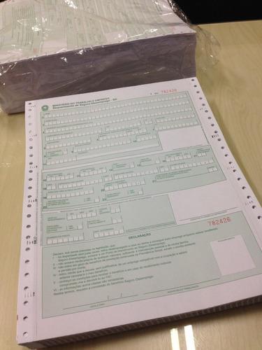formulário contínuo seguro-desemprego são domingos kit 10 un