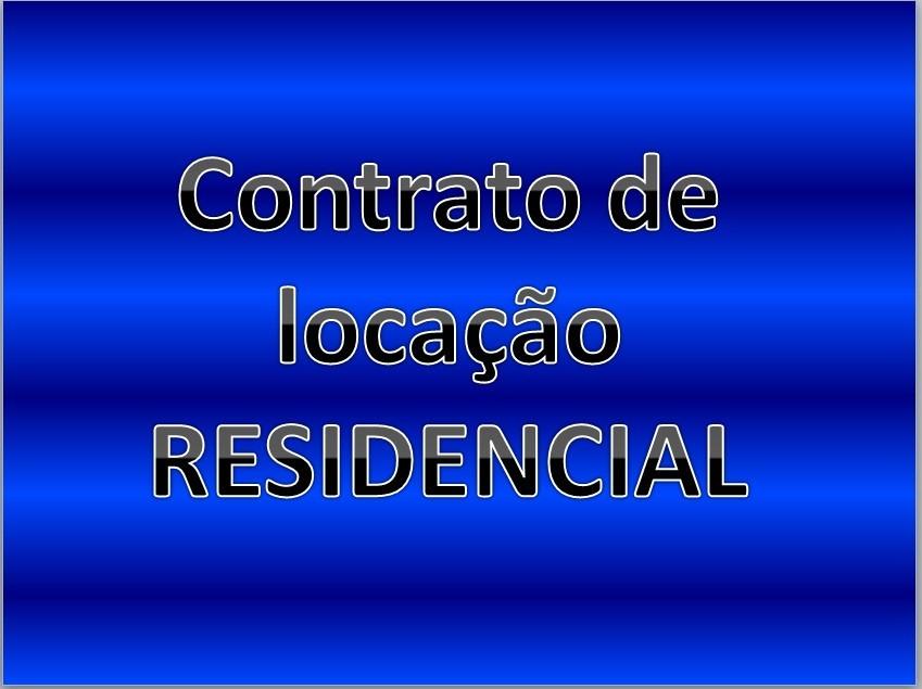 Formulário Contrato De Locação De Imóvel Residencial