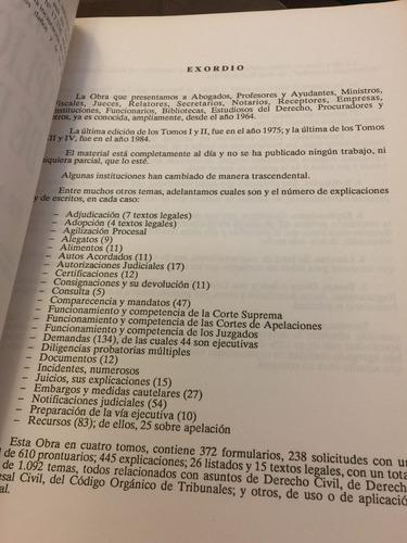 formularios y explicaciones de derecho tomo i