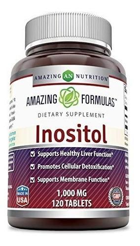 fórmulas asombrosas inositol - 1000 mg,120 cpas