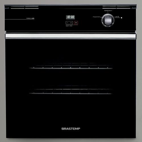 forno de embutir a gás brastemp preto com grill boa84ae