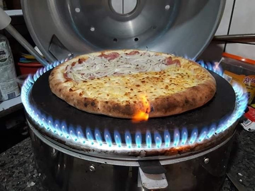 forno de pizza paulistano p40cm redondo tipo italiano a gás