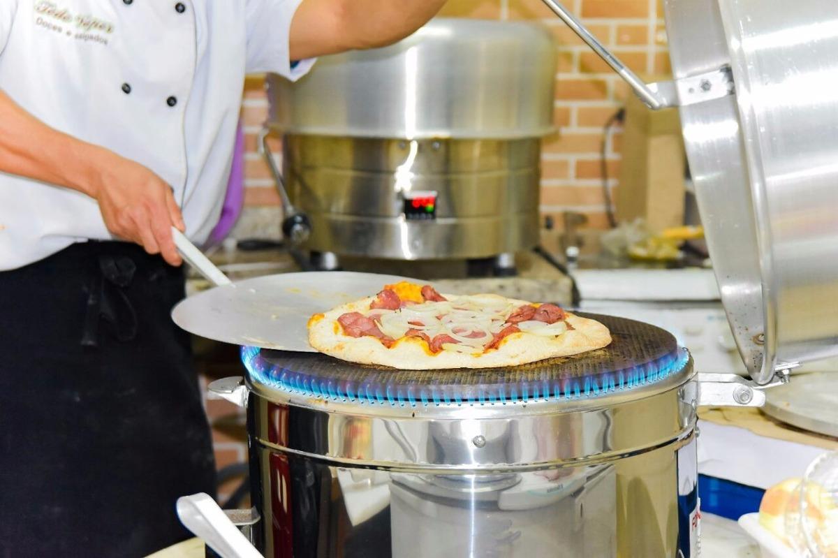 Forno de pizza paulistano redondo tipo italiano a g s r for Temperatura forno pizza