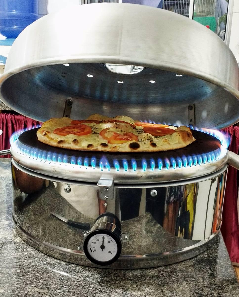 Forno de pizza redondo a g s compacto paulistano r 1 for Temperatura forno pizza