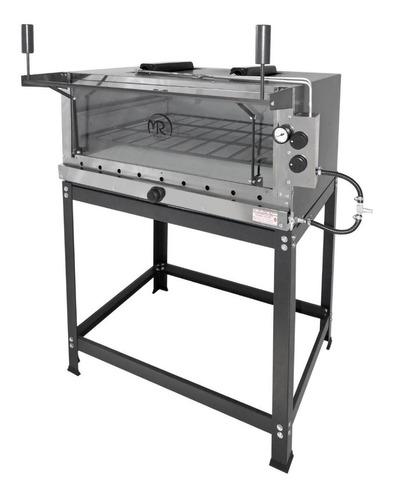 forno de pizza refratário a gás 95x95 com infra vermelho
