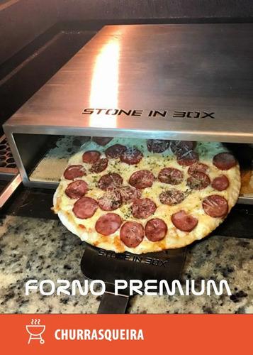 forno de pizza  stone in box  preminum