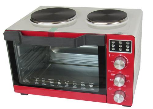 forno elétrico 35l 2x1 com fogão embutido 1500w + brinde