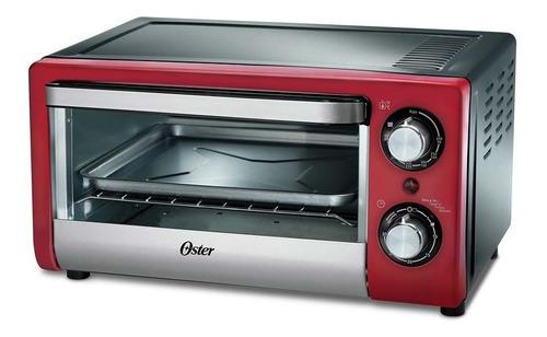 forno elétrico bancada 220v compact vermelho 10 litros oster