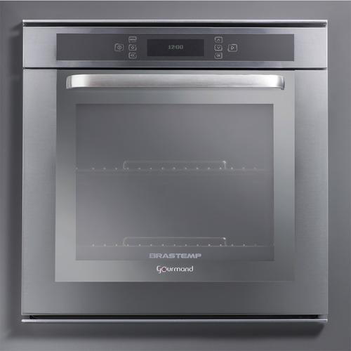 forno elétrico de embutir brastemp gourmand 67l inox - 220v