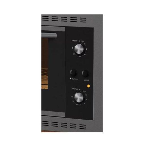 forno elétrico de embutir nardelli 45l inox preto 127v n450