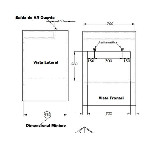 forno elétrico de embutir nardelli 45l inox preto 220v