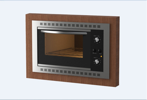 forno elétrico embutir fogatti f450 black 45l 110v