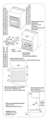 forno elétrico fischer embutir 44l