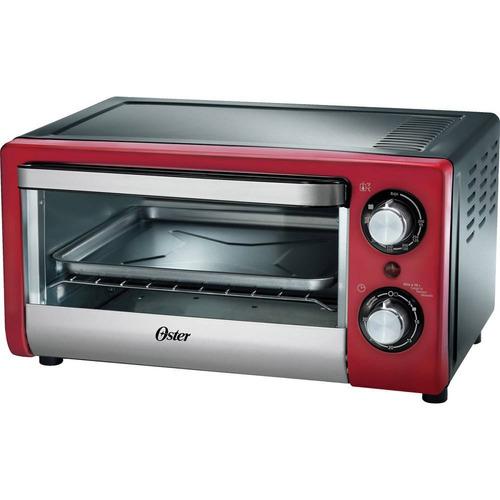 forno elétrico oster 10l compact 220v vermelho ee